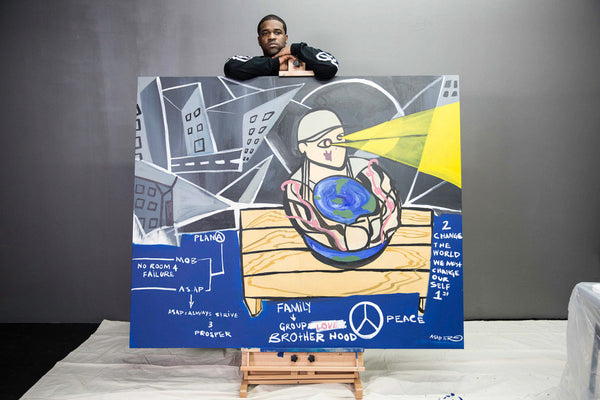 ASAP Ferg auctions off ASAP Yams Painting at the ASAP Foundation art gala