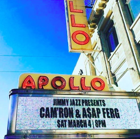 asap ferg and cam'rom perform at the Apollo theatre