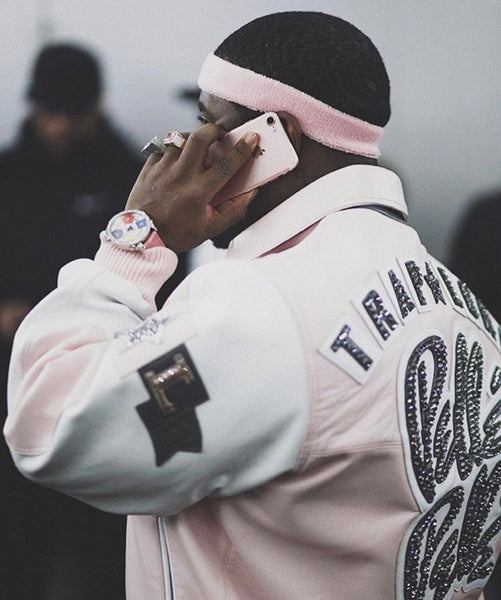 asap ferg custom traplord pelle pelle jacket