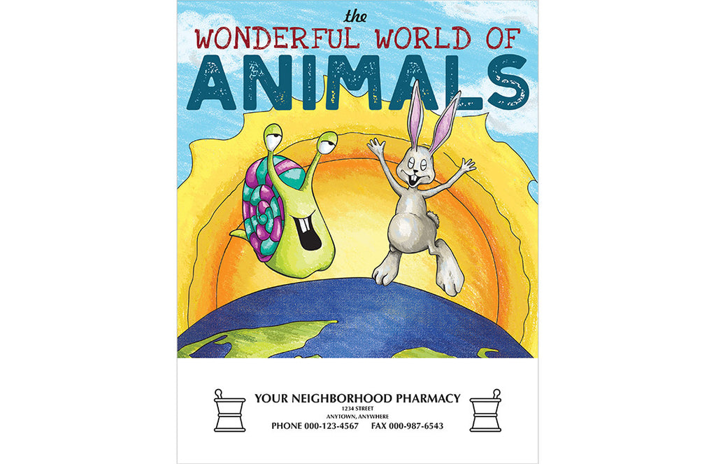 the wonderful world of animals coloring book - Cvr Pharmacy