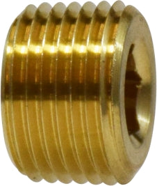 "1/4"" Brass Countersunk Hex Plug QTY 12"