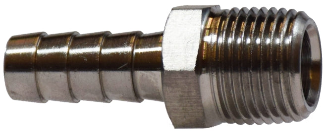 "3/8"" X 3/8"" SS Rigid Hose Barb Male Adapter"