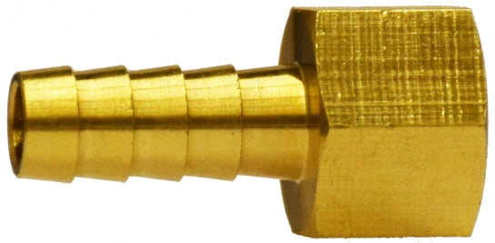 "5/16"" x 3/8"" Brass Rigid Hose Barb Female Adapter QTY 2"