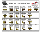 3/8 Brass D.O.T. Push Lock Fittings Assortment