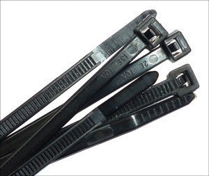"21"" HVY 175LB Black Cable Ties QTY 100 - USA Made, zip or wire Tie"