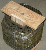 #80H HEAVY ROLLER CHAIN 50FT NEW FROM FACTORY W/5 FREE CONNECTING LINKS