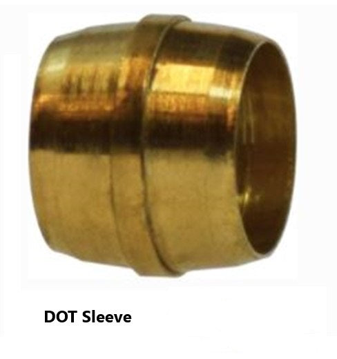D.O.T. Air Brake Brass Fitting Sleeve for NTA Nylon Tubing (QTY 10)