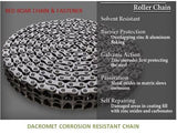 C2080HD DACROMET CORROSION RESISTANT ROLLER CHAIN 10FT ROLL