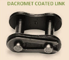#40 DACROMET COATED  CONNECTING LINK (QTY 10) for roller chain New