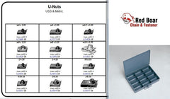 U NUT ASSORTMENT USS & METRIC METAL TRAY  KIT U-NUTS