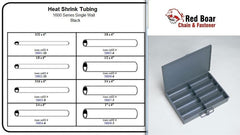 Heat Shrink Tubing Assortment in Metal Locking Tray
