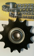 "100BB10H-3/4"" Bore Idler Sprocket w/ insert bearing 204KRR2 for #100 Roller Chain"