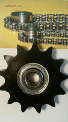 50BB17H-5/8 bore Idler Sprocket w/ insert bearing 203KRR2 for #50 Roller Chain