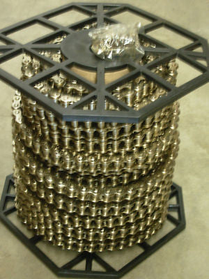 #40NP NICKEL PLATED ROLLER CHAIN 100FT ROLL, CORROSION RESISTANT