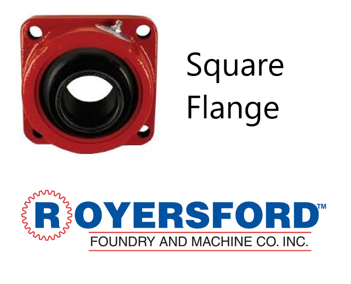 "3-1/2"" ROYERSFORD Spherical 4-Bolt Flange Bearing (Non-Expansion or Expansion)"