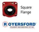 "3-11/16"" ROYERSFORD Spherical 4-Bolt Flange Bearing (Non-Expansion or Expansion)"