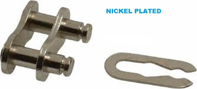 #41NP NICKEL PLATED CONNECTING LINK (QTY 25) for roller chain New