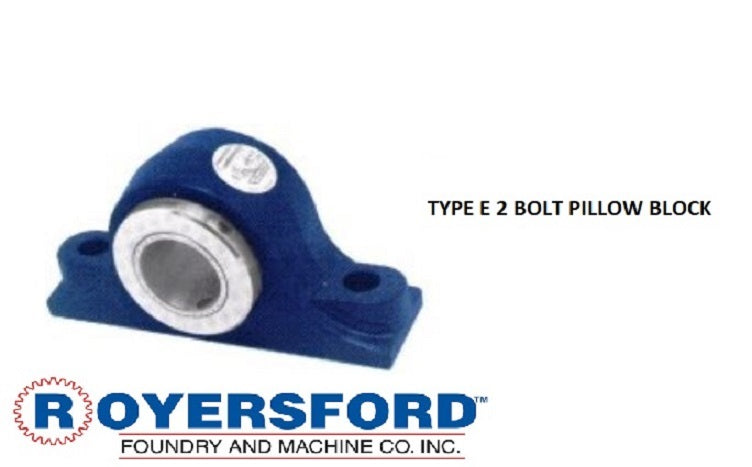 20-02-0207, ROYERSFORD TYPE E Pillow Block Bearing, 2-7/16 with Timken Tapered Roller Bearings