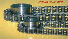 #80 SS STAINLESS ROLLER CHAIN 10FT NEW FROM FACTORY