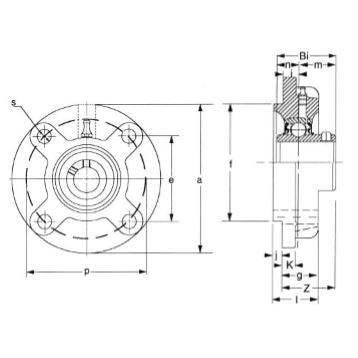 UCFC-213-40 PILOTED FLANGE BEARING 2 1/2""