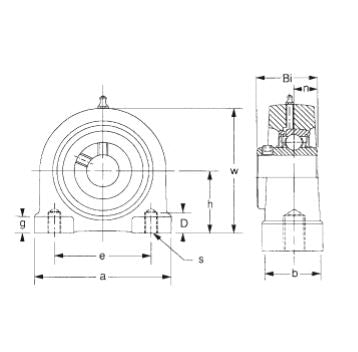 UCPA-211-34 TAPPED BASE BEARING 2 1/8""