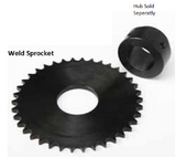 35W28 Weld Sprocket for W Series Weld Hub 28 Tooth