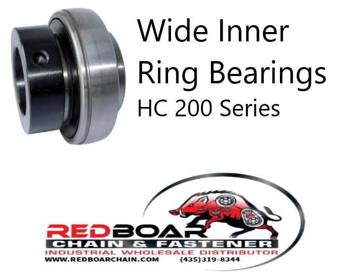 HC-211-35 Wide Inner Ring Bearing W/ Eccentric Collar Locking