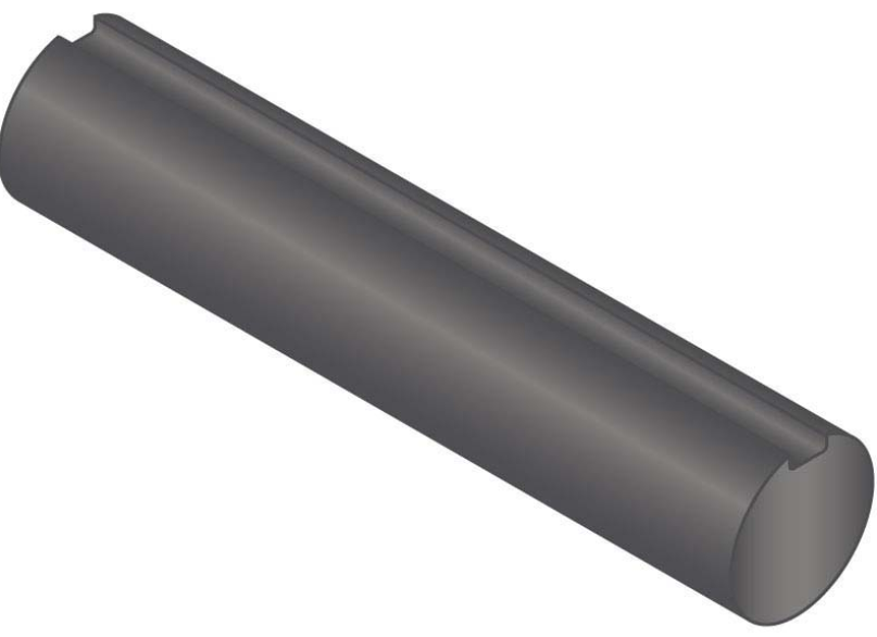 "1 15/16"" x 36"" Fully Keyed Shafting C1018 Steel"