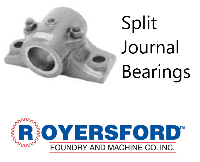 60-02-0212, ROYERSFORD Babbitt Split Journal Bearings 2-3/4""