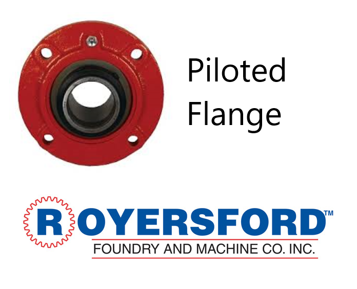 "1-3/4"" ROYERSFORD Spherical Piloted Flange Bearing (Non-Expansion or Expansion)"