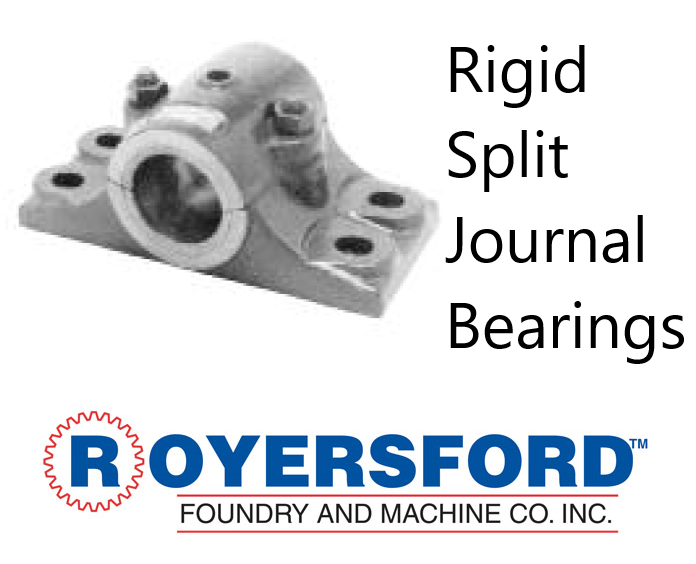 60-03-0407, ROYERSFORD Babbitt Rigid Split Journal Bearings 4-7/16""