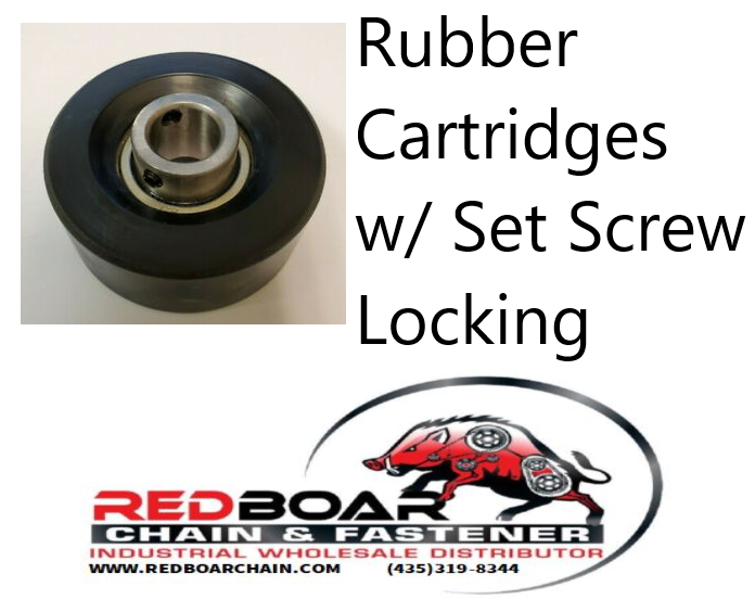 "RCSM-16S Rubber Cartridge Bearing  Set Screw Locking 1"" Bore"