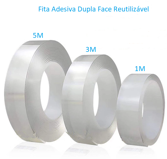 Super Fita Dupla Face Reutilizável