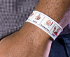 Tobii Dynavox themed PCS Snap Bracelets featuring Picture Communication Symbols