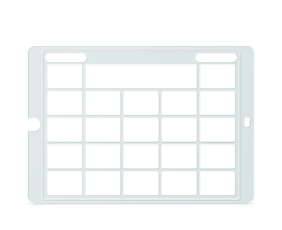 Speech Case Keyguard for Snap Core First with 4x4 Vocabulary Grid 5x5 Total Grid with Menu