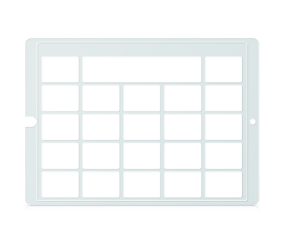 Speech Case Pro Keyguard for Snap Core First 4x4 Vocabulary Grid 5x5Total Grid with Message Window and Toolbar