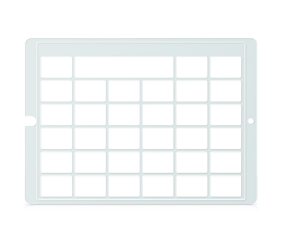 Speech Case Pro Keyguard for Snap Core First 5x5 Vocabulary Grid 6x6 Total Grid with Message Window and Toolbar