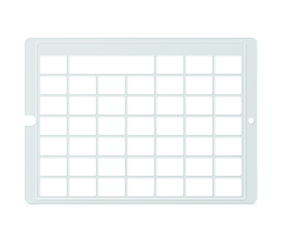 Speech Case Pro Keyguard for Snap Core First 6x6 Vocabulary Grid 7x7 Total Grid with Message Window and Toolbar