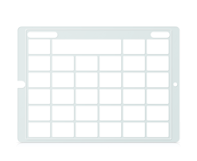 Speech Case Pro Keyguard for Snap Core First with 5x5 Vocabulary Grid 6x6 Total Grid with Menu