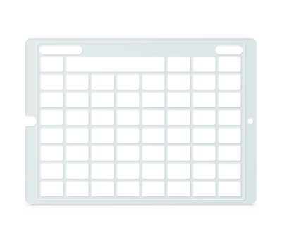 Speech Case Pro Keyguard for Snap Core First with 7x7 Vocabulary Grid 8x8 Total Grid with Menu