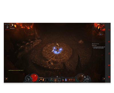 Diablo 3 for eye gaze game character playing screenshot