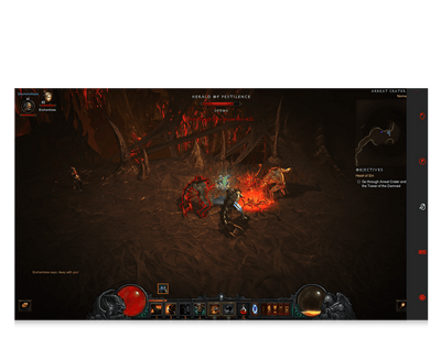 Diablo 3 for eye gaze game character fighting screenshot