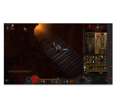 Diablo 3 for eye gaze game gear selection screenshot