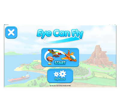 Eye Can Fly eye gaze game start page screenshot