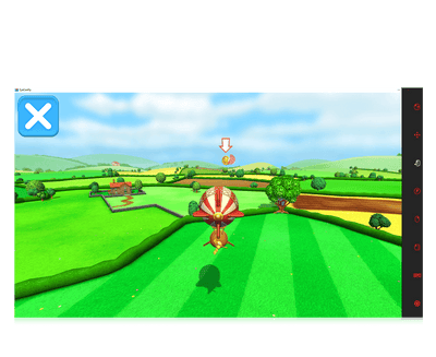 Eye Can Fly eye gaze game balloon ride screenshot