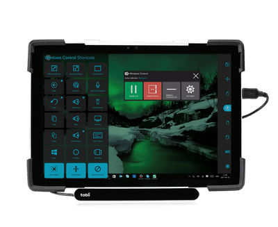 Tobii Dynavox Durable Case with Surface Pro tablet and EyeMobile Mini eye tracker