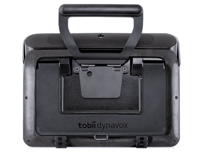 Tobii Dynavox I-110 Mount Plate with Handle mounted on device