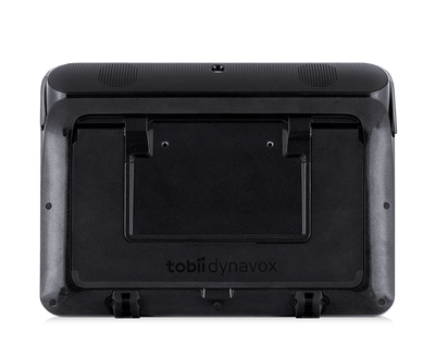 Back view of the Tobii Dynavox I-110 SGD featuring mount plate