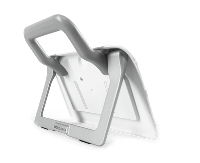 Tobii Dynavox Indi Mount Plate with Kickstand and Handle side view