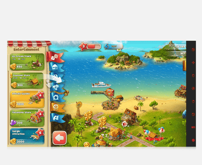 Paradise Island eye gaze game start page screenshot